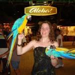 Laura & parrots